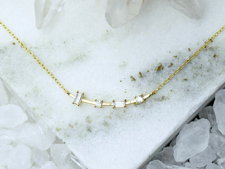 Heishi Birthstone Bar Necklace - November