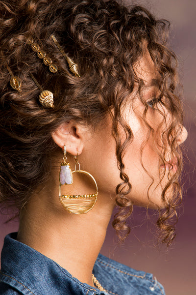Scarab Huggie Earring (Single)