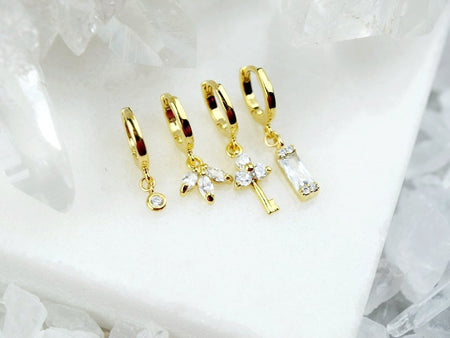 Garnet Huggie Earring - January