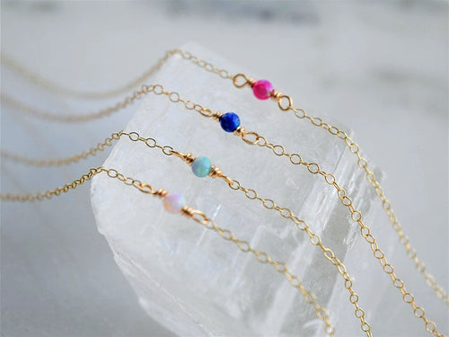 Dainty Opal Necklace