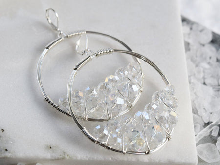 Rough Diamond Huggie Earring - April