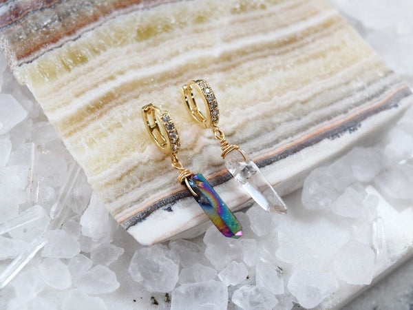 Quartz Huggie Earring (Single)