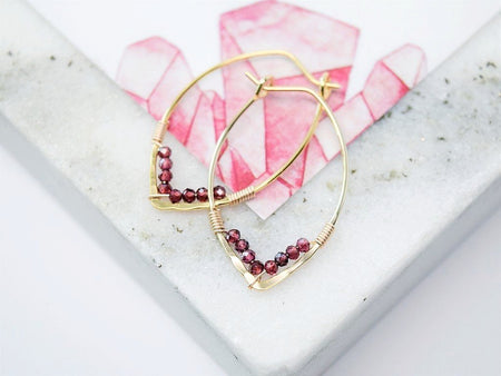 Ruby Drop Earring - July