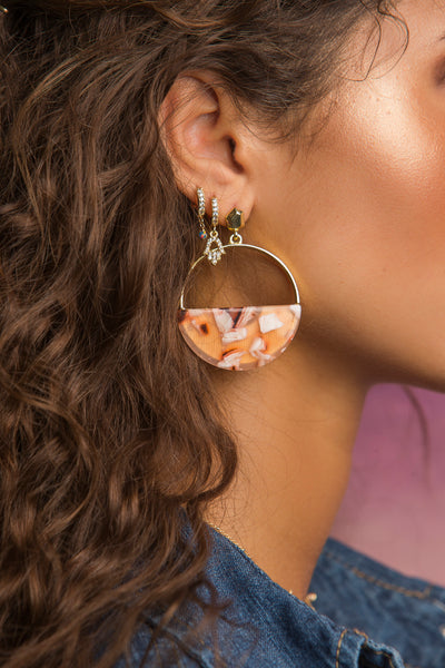 Tortoise Earring - Whiskey Sour