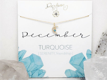 Turquoise Bar Necklace- December
