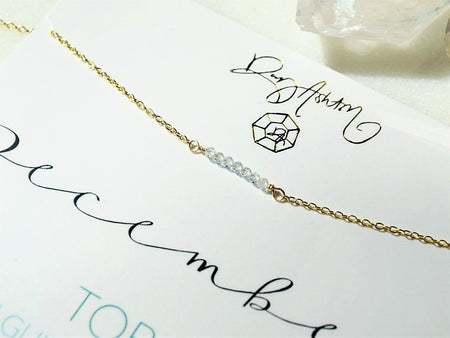 Rough Diamond Bar Necklace - April