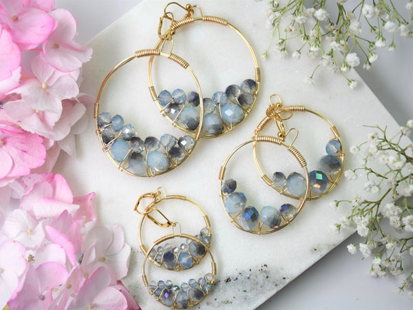 Denim Cluster Earring
