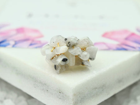 Natural Birthstone Cluster Ring - October