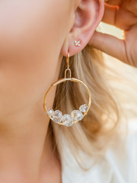 Rose Gold Cluster Earring