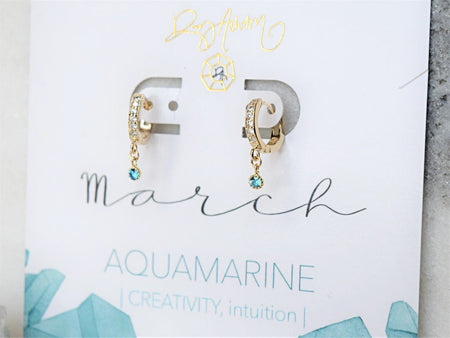 Aquamarine Drop Earring - March