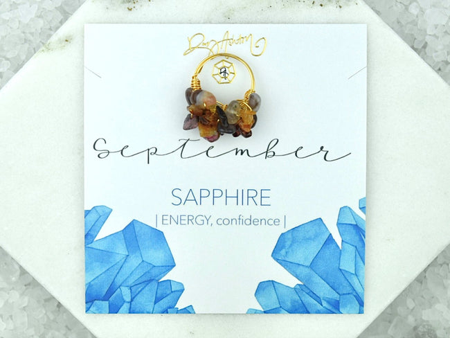 Natural Birthstone Cluster Ring - September Sapphire