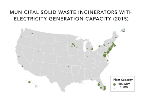 map of waste to energy plants