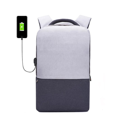 Solid USB Charging Backpack