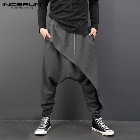 Men Drop Crotch Harem Hip Hop Pants