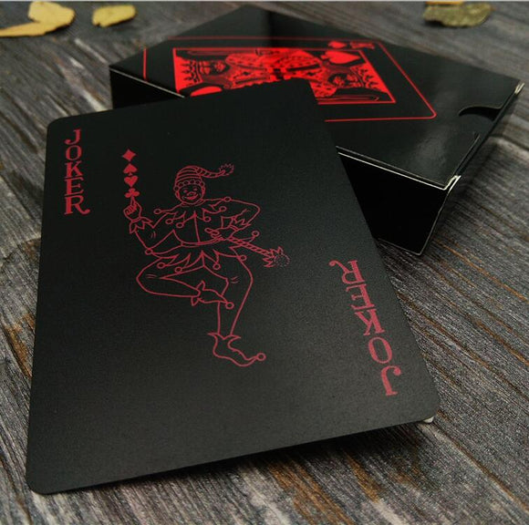 Aesthetic Red and Black Playing Cards