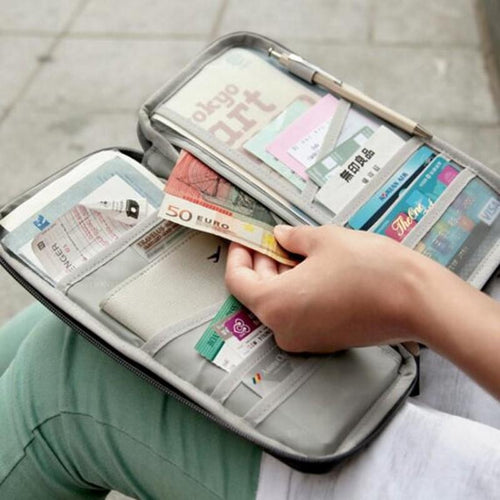 Multi Function Travel Bags - Organize Your Passport, Bank Card, Tickets & Money | 3 Colours