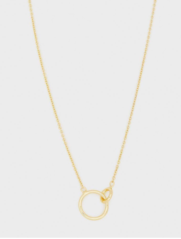 Wilshire Charm Double Circle Adjustable Necklace