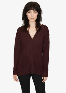 "Sanctuary Plus Size ""Sienna Mix"" Sweater in Burgandy"