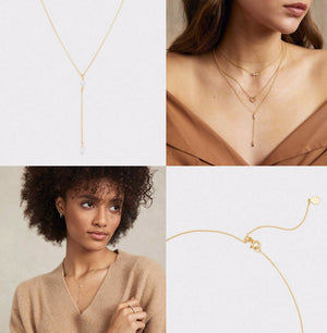 Lena Sparkle Lariat Adjustable Necklace