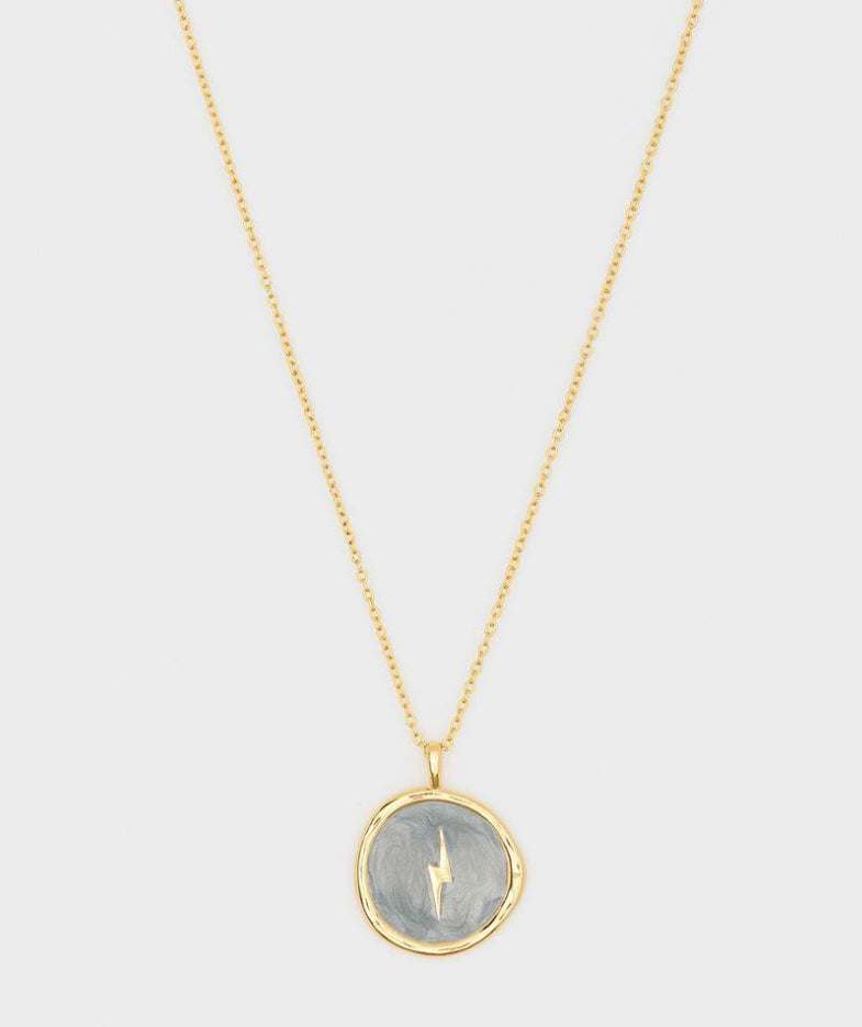 Gorjana Lightening Coin Necklace