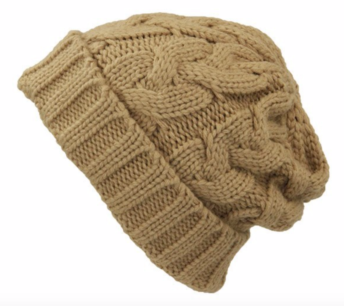 Cable Knit Beanie - Multiple Colors