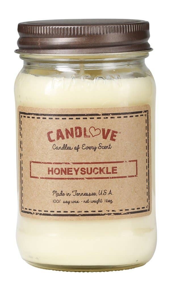 Honeysuckle Scented Candle 100% Soy Wax