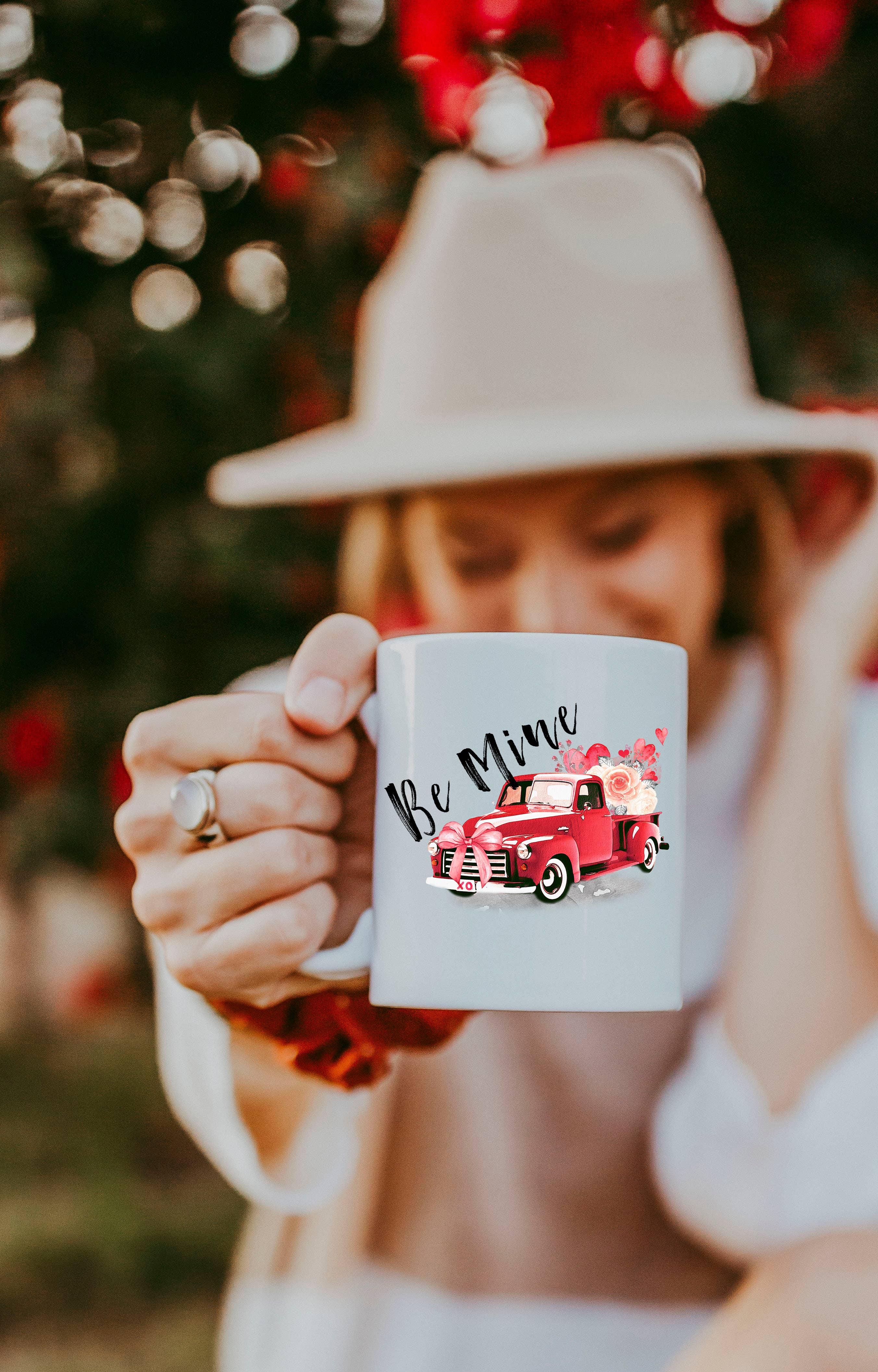Be Mine Truck - Valentines Day Coffee Mug
