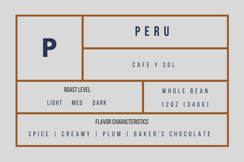 Peru Sol Y Cafe - medium roast - 12 oz