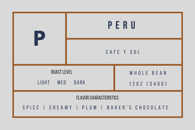 Peru Sol Y Cafe — Medium Roast