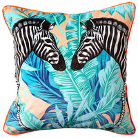 Luxury Velvet Double Zebra Cushion