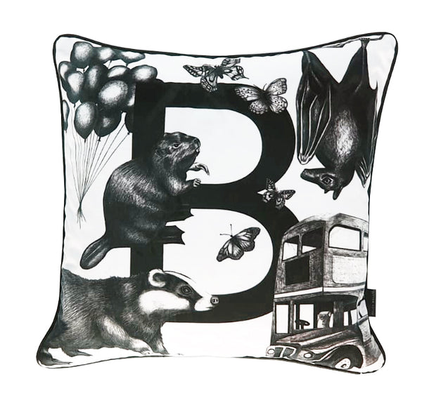 Luxury Velvet Letter B Cushion