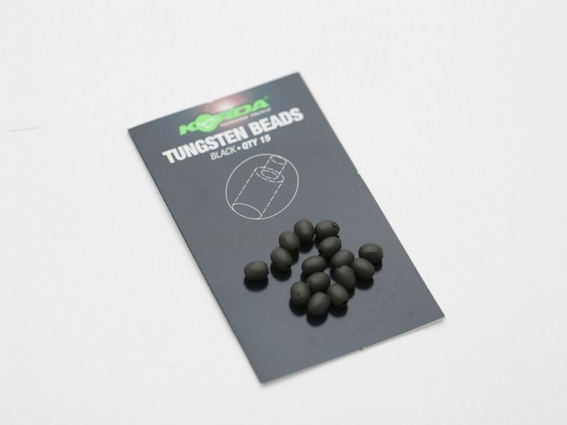 Korda Tungsten Oval Beads 15 per Pack KTB