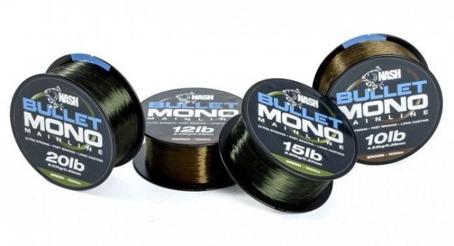 Nash Tackle Bullet Mono 1000m Spool All Sizes