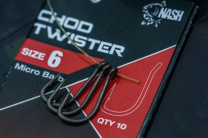 Nash Pinpoint Carp Fishing Hooks Fang X Twister Chod Long Shank Claw