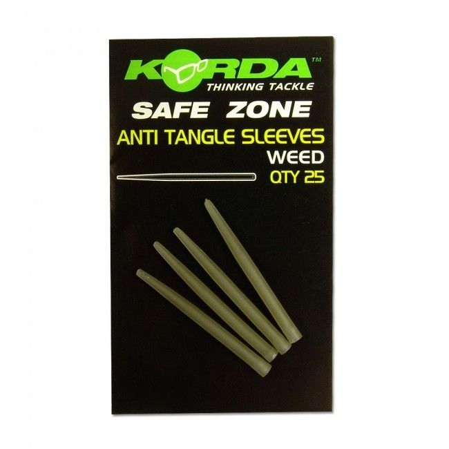 Korda Safe Zone Anti Tangle Sleeves - Weedy Green 25 PK