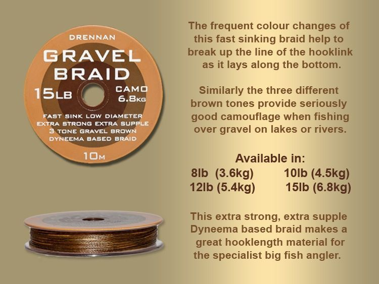 Drennan Gravel Braid 10m Spool All Sizes