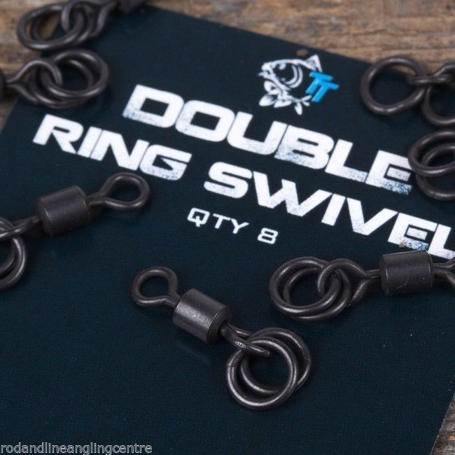 Nash Tackle Double Ring Swivels 8 Per Pack