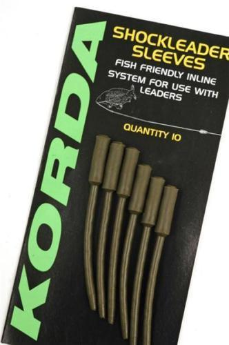 Korda Shockleader Sleeves Weedy Green pack of 10 Carp