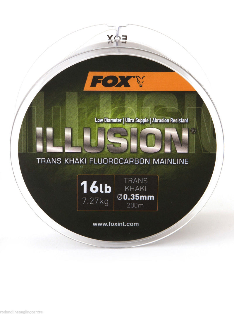 Fox NEW Illusion Trans Khaki Mainline Fluorocarbon Carp Fishing Line 200m