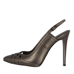 CUNDA Anthracite Matte High Heel Point Toe Handmade Sandal | Zerga Shoes