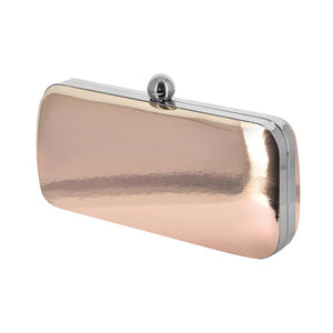 Dara Rose Gold Mirror Clutch