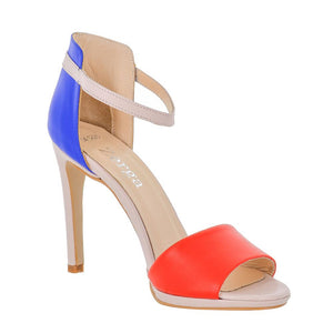 Deva Multi Color Blue Red Pink Sandal (Right View)
