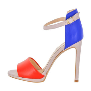 Deva Multi Color Blue Red Pink Sandal (Side View)