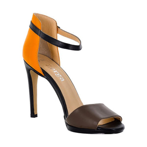 Deva Multi Color Black Orange Brown Sandal (Right View)