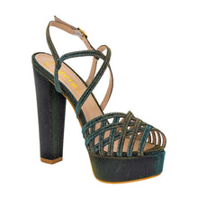 Keri Emerald Green Gold Sandal (Right View)