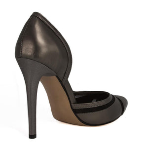 LALE Anthracite Tulle Stiletto (Back View)