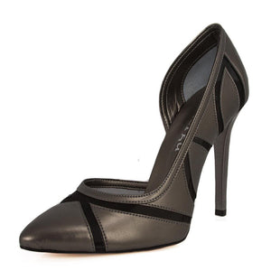 LALE Anthracite Tulle Stiletto (Left View)