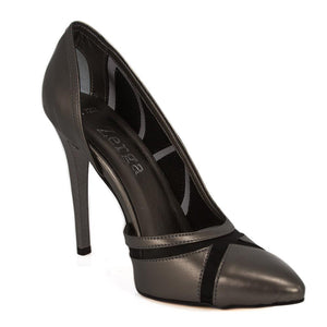 LALE Anthracite Tulle Stiletto (Right View)