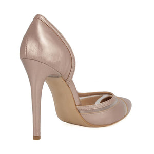 LALE Pearl Pink Tulle Stiletto (Back View)