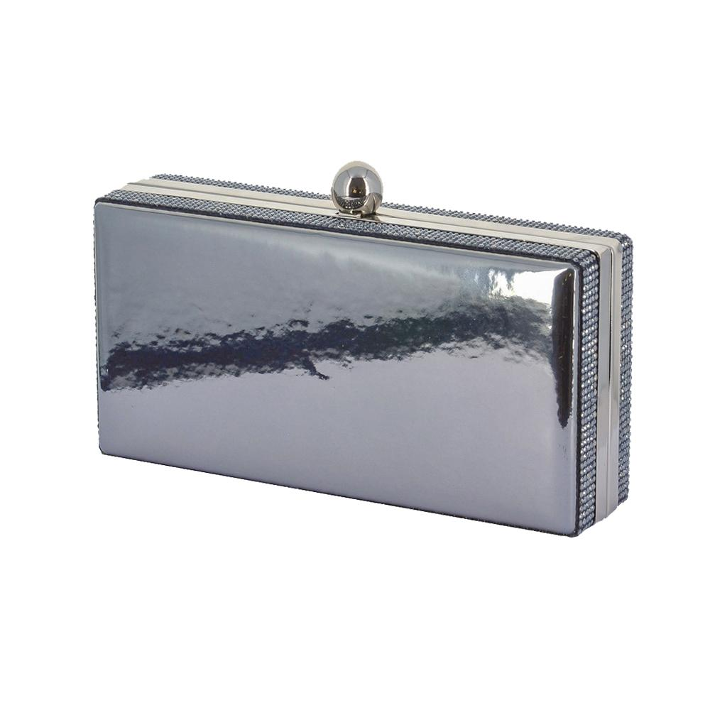 Lasi Anthracite Mirror Rhinestone Clutch